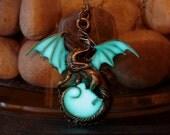 Glow in the dark Dragon Surrounding the Moon