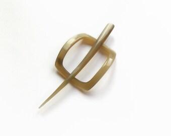 Hair stick, Shawl pin, Scarf pin, Hair slider barrette, Hair clip, horn, Woman Gift, haarspange, Natural hair accessory, Handmade MariyaArts