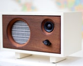 NEW! Wood Desk Speaker || Reclaimed Wood Wireless Bluetooth Speaker || Fawn Speaker | Heirloom & Stable Wood - FREE SHIPPING