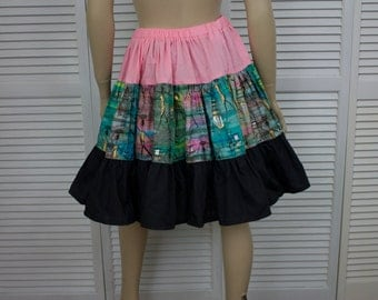 Vintage Square Dancing Skirt Cotton