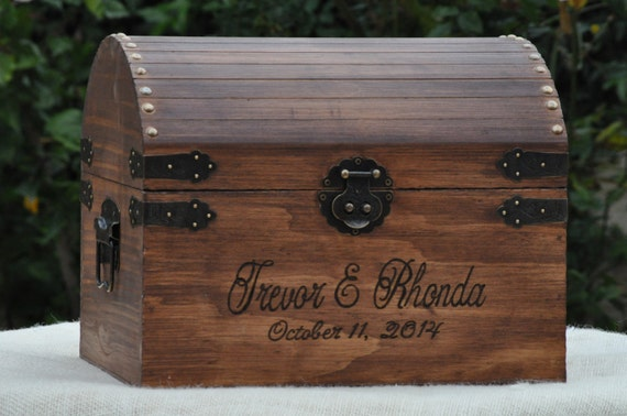 large rustic wedding card box with card slot treasure chest Wedding Card Holder Chest like this item? wedding card holder tackle box