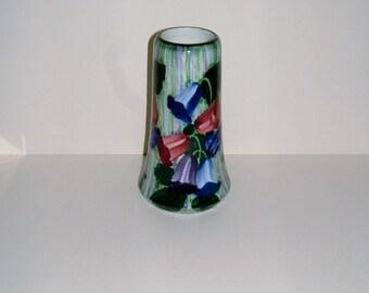 SMF Schramberg Hand Painted Flower Vase from Württemberg Germany Vintage Vase Vintage Home Decor Vintage Housewares