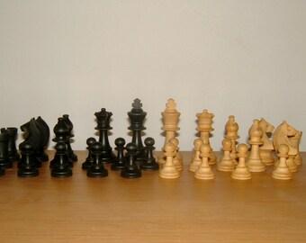 Staunton Chess Set by Milbro Vintage Games Vintage Chessmen 1950s Complete