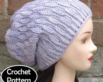 Womens Oversized Slouchy Beanie Hat Knitting Pattern PDF ...