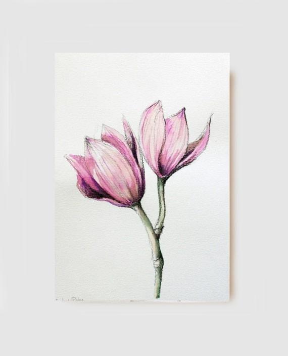 Estremamente Articoli simili a Disegno a carboncino originale orchidee - fiori  HQ87