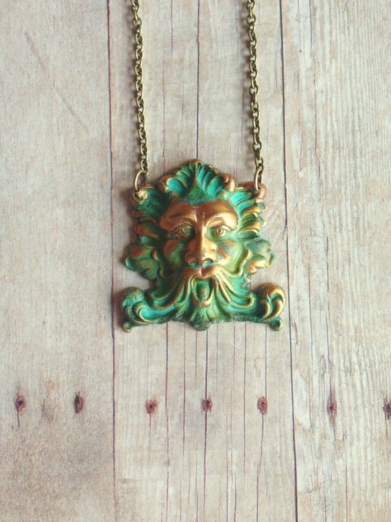 Green man necklace by circaad on etsy for Just my style personalized jewelry studio