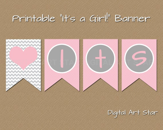 Trust image regarding printable baby shower banners