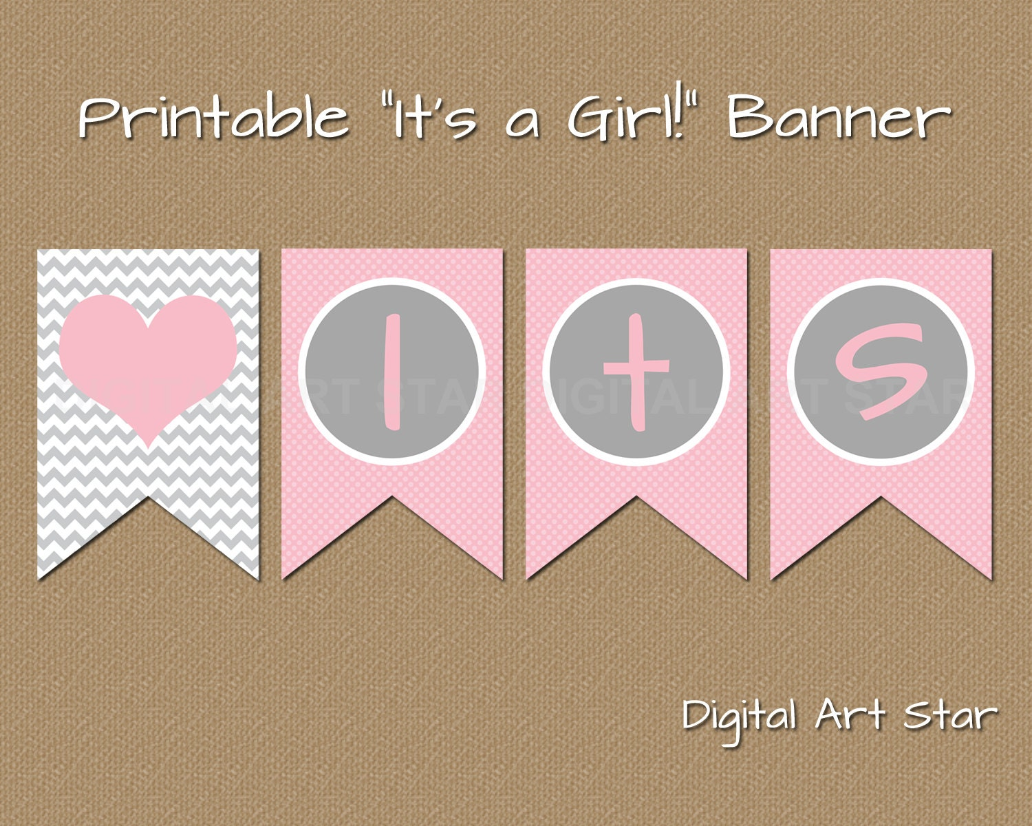 Effortless image in baby shower banner printable