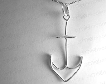 Anchor Necklace - Sterling Silver - 925- Hope as an Anchor - Christian Jewelry - Faith Jewelry - Christian Gift - Nautical - Sailor - Navy