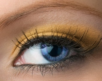 "Gold Eyeshadow Shimmer - ""Panpipes"" - Vegan Mineral Eyeshadow Net Wt 2g Mineral Makeup Eye Color Pigment"