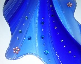Wall Varied Blue Glass Hamsa