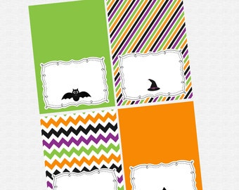 INSTANT DOWNLOAD -- Halloween Tent Cards