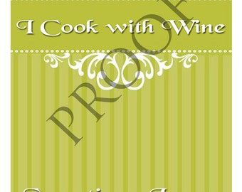 Unique Chef Wine Label or Digital File Custom & Personalized Available