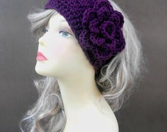 Crochet Headband Headband With Flower Crochet Ear Warmer Womens Accessories Crochet Accessories