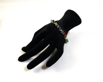 Jewel Tones Hugs and Kisses Bracelet