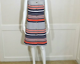 1960's NANCY GREER Sleeveless Dress Size 10 Size 12