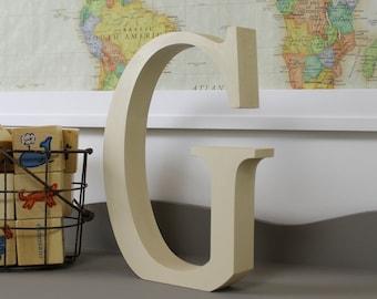 wood letter g free standing wooden letters alphabet decor letter g