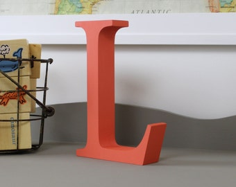 Free Standing Distressed Wooden Letters - Alphabet Decor Letter L