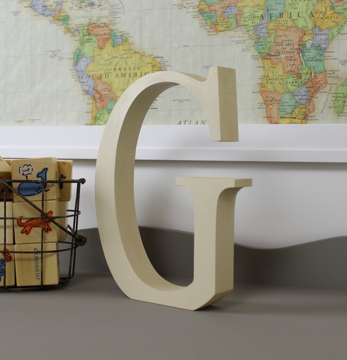 wood letter g free standing wooden letters alphabet decor With free standing decorative alphabet letters