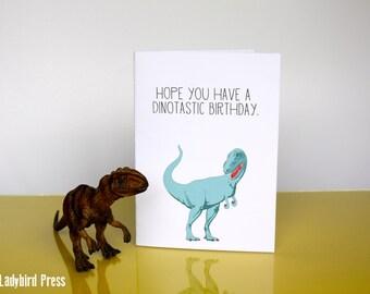 Printable Funny Birthday Card Dinosaur - Happy Birthday - Children Dinosaur Birthday Card - Instant Download