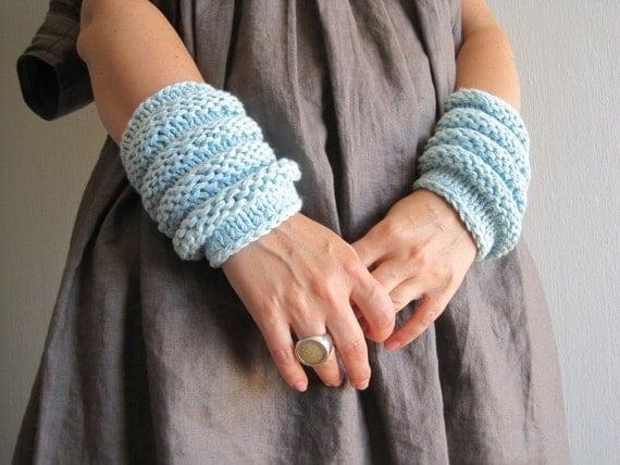 Fingerless Gloves, Knitted Arm Warmers, Hand Warmers, Spring Mittens, Women Gloves, Arm Warmers, Wrist warmers, Mori Girl, Mori Kei
