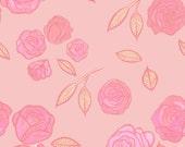 Ditzy Roses Long Silk Scarf