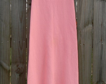Vintage 60s 70s Pink Baby Doll Maxi XS Spring Summer Festival Dress ISSUES/FLAWS (Large youth or Extra Small Woman)