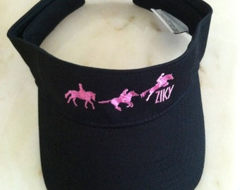 Equestrian Visor with embroidered horses by ZIKY