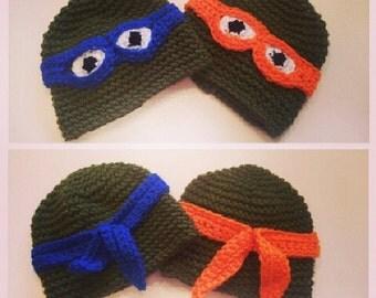 Turtle Power! Crochet Turtle Beanie