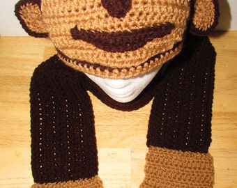 Monkey Hat and Scarf Set