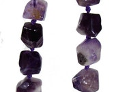 SALE Natural Amethyst Tumbled Nuggets Graduating Beads Strand 8mm - 20mm