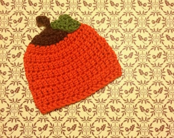 Crochet Halloween Pumpkin Hat