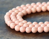Faux Turquoise Beads, Light Pink, 6mm Round - 15 inch Strand - eGR-IT005-6
