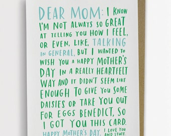 Awkward Mother's Day Card, Funny Mother's Day Card, Mother's Day Card Funny 200-C