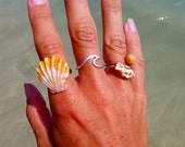 Wave Ring Solid Sterling Silver 14K Gold fill