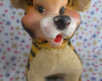 Rubber faced Tiger stuffed animal My-Toy