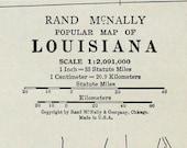 Louisiana State Vtg Map, 1928
