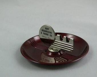 Ashtray - Candy Apple Red - 1950 - Advertisement - Retro - Tobacciana -   MG-252