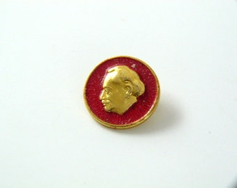 Vintage Bulgarian Communist Badge Pin - Georgi Dimitrov Pin