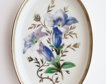 Antique German Glass Rosenthal Oval Mini Flower Plate/Dish/Tray
