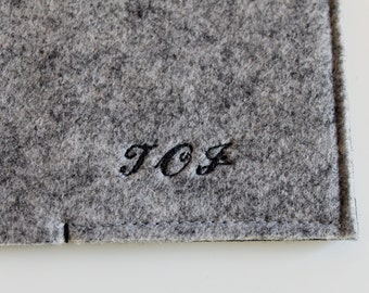 Engraved Letters/ Personalized Embroidery Letters/ Customize your sleeve/ Old Script Letter Name