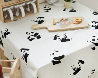 "Panda Bear Oxford Cotton Fabric - By the Yard (44 x 36"") 47741"