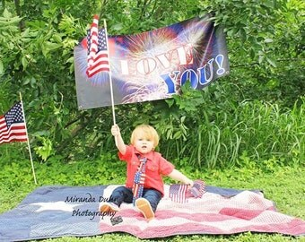 Little Boy Patriotic Tie, Fourth of July Tie, Baby Tie, Toddler Tie, Little boy Ties
