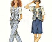 Misses Pull-On Pants or Shorts and Lined Vest It's So Easy 8878 Size 8 10 12 14 16 18