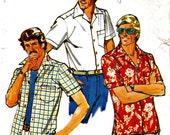 Men's Sport Shirt Short Sleeve Sewing Pattern Butterick 6015 Size 36