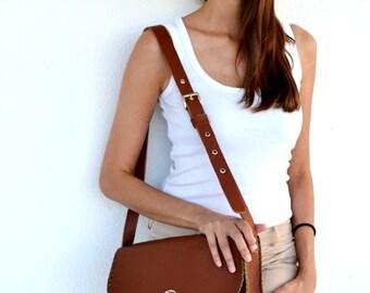 Leather Brown bag / Handmade cross body - messenger bag