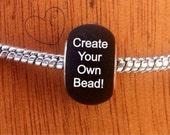 Create Your Own Custom Hand Painted European-Style Bead