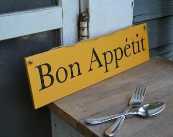 Bon Appetit, wood sign