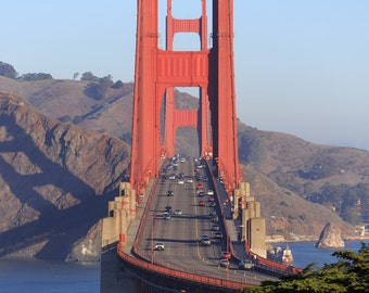 Golden Gate Bridge Photo - San Francisco Fine Art Print - North View, Head On View - Photography, Bay Area, California Photo