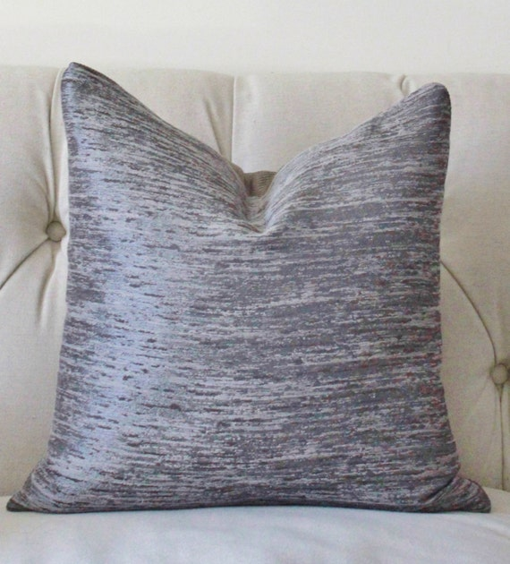 Items similar to Modern Grey Neutral Pillow- Charcoal Gray Geometric Pillow Cover - Pewter ...